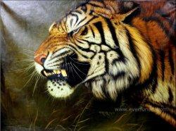 Decoração pintada à mão Tigre Animal pintura a óleo