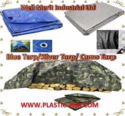 Серебристый HDPE мешок экономики голубой плотный брезент брезент Camoflague мешок