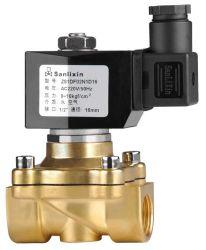Latón de 2 vías de acción directa de aire y agua de la válvula de solenoide