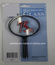 75мм дешевые увеличительное стекло с пластиковой ручкой лупа