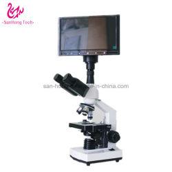 病院のクリニックの実験室の分析および研究のための単対物双眼顕微鏡が付いているLCD表示の健康の探知器1つの血のしたたり