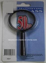 50мм дешевые увеличительное стекло с пластиковой ручкой лупа
