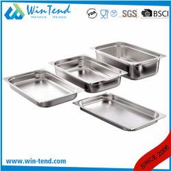 Fabricant de la cuisine de style de l'Europe SS201 d'aliments en acier inoxydable Gn Pan