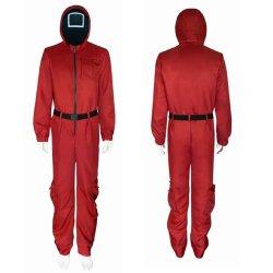 Squid Game met dezelfde COS kostuum Halloween Stage Performance Cospplay Clothes Plus Size Jumpsuit voor heren en dames