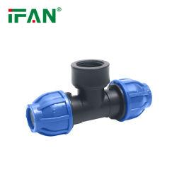 맞춤형 디자인 동일 티 공장 가격 모든 종류의 PP HDPE PE 관수 압축 피팅 암 커넥터