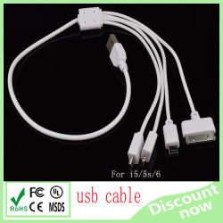 4 in 1 USB Cable White 50cm
