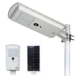 Sensor de movimiento inteligente de energía Solar energía integrada al aire libre todo en uno de los LED lámpara de la calle 25W 30W 40W 50W 60W