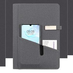 Regalos para Empresas Banco de potencia portátil con doble bolsillo 8000 mAh 16GB USB Pen Drive el banco de energía inalámbrica portátil