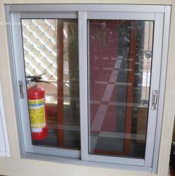 Largement utilisé en aluminium de couleur naturelle avec le ressort de verrouillage de vitre coulissante