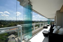 Interior sem caixilho exterior de vidro temperado Bi Dobrável porta dobra