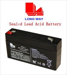 6V1.2ah loodzuurbatterij gebruikt voor verlichting/UPS