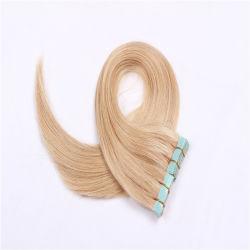 613# 22 بوصة شريط تمديدات الشعر Weft 20PCS ضوء البراء Brazilian 100% الإنسان ريمي البشرة الشعر غراء لاصق الشعر