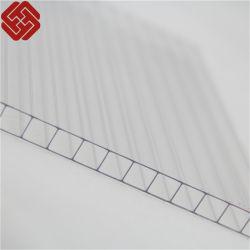 Feuille de polycarbonate Espérance de vie Revêtement de toit en plastique transparent en polycarbonate feuille double mur creux