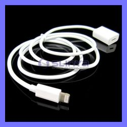 1m USB 2.0 Male aan Female Charge Sync 8 Pin Extension Cable voor iPhone 6 6s 5 iPad 5 4 Lightning USB Cable Cord (SL-C37)
