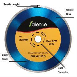 Continuo de la hoja de diamante Rim Disco de corte Azul/Plata 230 X2.7X22.2milímetro