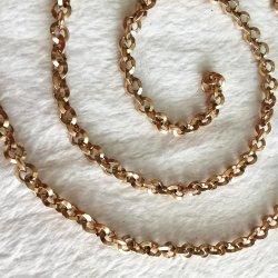 Commerce de gros triangle polonais de la mode personnalisé sur le fil Chaîne de cheville en alliage plaqué or Bijoux de La Chaîne Belcher Rolo Bracelet collier pour la conception de bijoux