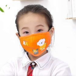 Van de Katoenen van de Ademhaling van de Preventie P.m. 2.5 van de Smog van het Masker van het Gezicht van de Liefde van kinderen het Stofdichte Masker Jonge geitjes van het Beeldverhaal