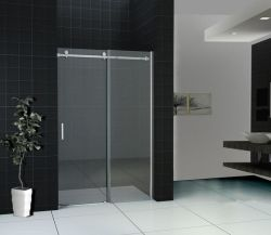 Salle de bains en verre trempé en acier inoxydable douche coulissante de porte de l'écran