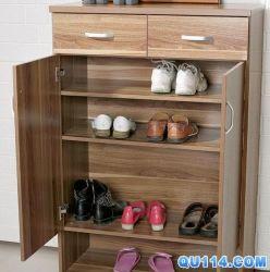 反響室の靴の家具の棚かキャビネット