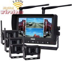 نظام كاميرا الرجوع للخلف اللاسلكية RV شاشة 7' مدمجة في مسجل الفيديو الرقمي (DVR) كاميرا الرؤية الخلفية مع الرؤية الليلية بالأشعة تحت الحمراء للشاحنة/المقطورة/مركبة الرحلات/سيارات نقل/سيارة تخييم/شاحنة/مزرعة