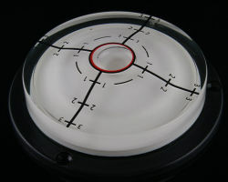 Niveau à bulle flacon avec le flasque (dia/85mm x Hauteur/20mm)