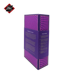 Fermeture magnétique de haute qualité de la courroie en carton de lamination matte jouets Sexe sida boîte cadeau velours avec insert en mousse