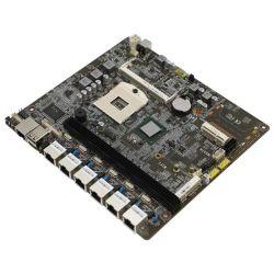 PGA988 6 LAN Intel i3, I5, I7 Motherboard Firewall / Placa Principal de segurança de rede