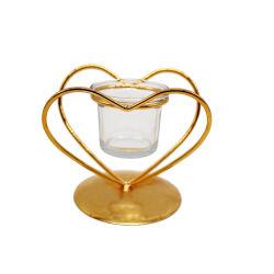 금 두 배 심혼 모양 촛대