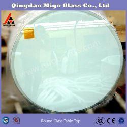 Limpar tampos de mesa redonda de vidro temperado para mesas de jantar, mesa de vidro protector/Tampa/substituição