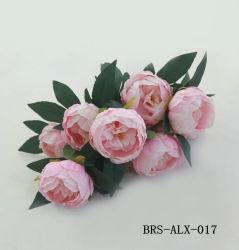 10의 헤드 작약 낱단 가짜 가정 훈장을%s 실크 시뮬레이션 꽃다발을%s 가진 인공 꽃