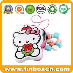 Hello Kitty boîtes cadeau avec chaîne de caractères pour les bonbons de la confiserie de menthe