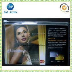 선전용 투명한 플라스틱 PVC 파일 지퍼 부대 (jp plastic068)