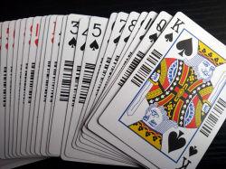 310gms de papel de núcleo negro Casino Poker Naipes