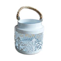 ホワイトメタルの装飾的なハングの蝋燭ホールダーのランタン