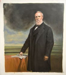Reproduziertes amerikanisches Ölgemälde des Präsidenten-Portraits auf Segeltuch