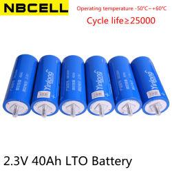 Yinlong 2.3V 40ah Lto 66160 recarregável Bateria de Lítio Cilíndrica Titanato de células da bateria