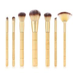 جديد 7PCS Bamboo أدوات أطقم الفرش الناعمة الطبيعية أساس الشعر أداة تجميل Brush Brush Brush Brush