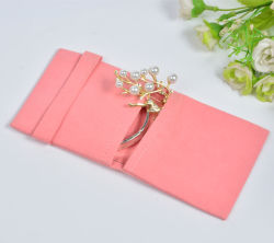 Umschlagtasche Aus Rosa Samt-Armband Umschlagtasche Aus Mikrofaser-Schmuck Umschlagtasche