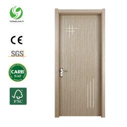 Novo Design WPC filme de PVC Porta de Extrusão Oco laminado WPC Painel de porta