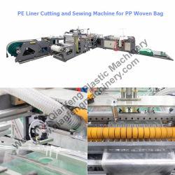 Bolsa de tejido de polipropileno de corte de la camisa de PE&Insertar+máquinas de coser
