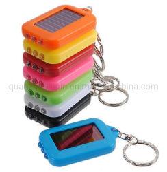 OEM ABS Multi - Farbe Fan Sie Solar-Taschenlampe Schlüssel Kette