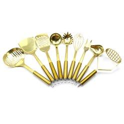 Poignée en acier inoxydable de gros outils Ustensiles de cuisine en silicone en silicone