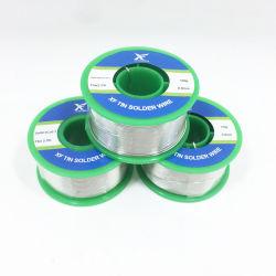 RoHS colofonia con núcleo fundente Sac305 Sac307 Sacx07 Sac07 Sn Cu Tin AG de aleación de cobre plateado soldadura sin plomo de alambre de soldadura