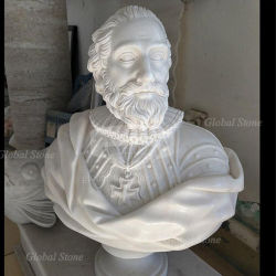 백색 대리석 손에 의하여 새겨지는 그리스 흉상 (GSBST-115)