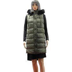Dames Winter Cotton Twill warm Vest met Faux-Fur Women Cotton Vacht