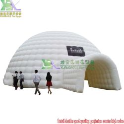 DJ Event Wedding Party Large Yurt TAge Air Dome القابل للنفخ مع نفق