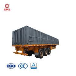 Encomenda de pequenas dimensões pode ser aceito em 3 eixos 40-60ton 20/40ft Truck High-Bed Recipiente de mesa semi reboque