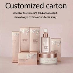 Commerce de gros de l'huile cosmétiques de luxe personnalisé parfum rouge à lèvres maquillage Mascara Fard à joues Colorant capillaire Art emballages en papier Impression UV/Pliage boîte cadeau d'emballage en carton imprimées