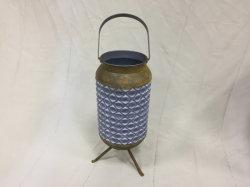 金属のハンドル及び足を搭載する金属の植木鉢