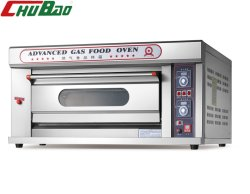 Commerciële keuken 1 dek 2 trays Gas oven voor bakken Apparatuur Bakkerij machine Voedingsmachines Broad machine uitgerust met Timer (3% Korting)